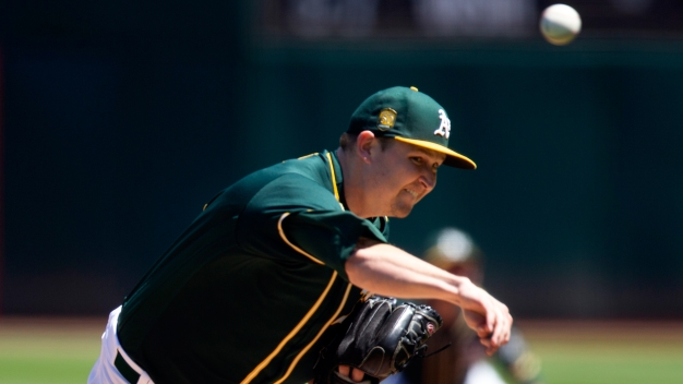 Trevor Cahill's Career Day Moves A's Into Tie With Astros Atop AL West