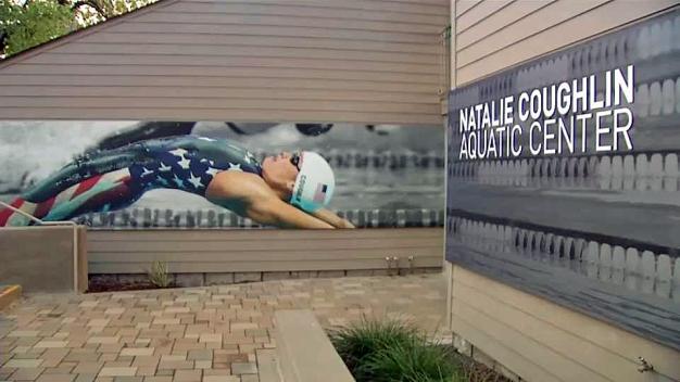 Olympian Coughlin Returns to Alma Mater For Pool Dedication