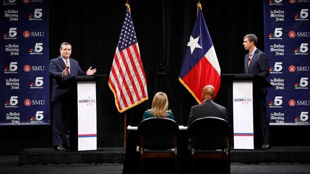 Cruz, O'Rourke Trade Attacks in Texas Senate Debate