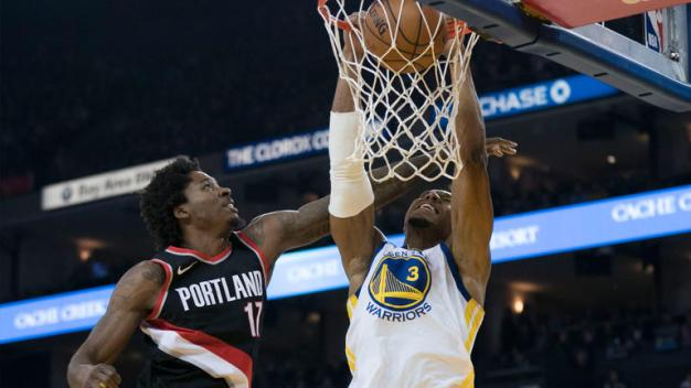 Role Players Step Up, Lead Shorthanded Warriors Past Blazers