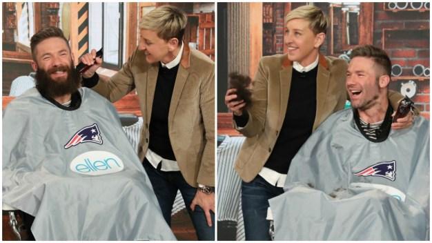 WATCH: Edelman Shaves Off Beard for Charity on 'Ellen' Show