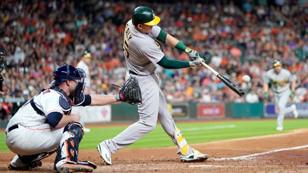 Healy's Grand Slam Powers A's Past Astros