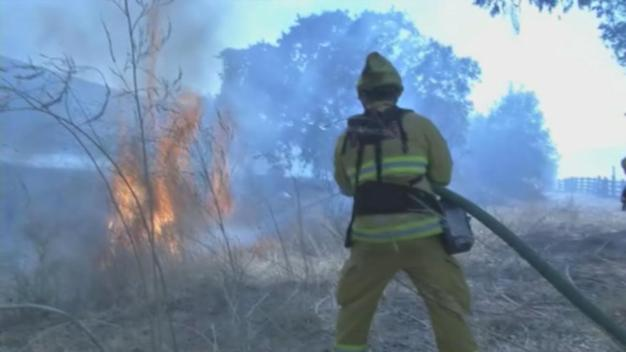 Brush Fire, Downed Power Lines Shut Down Highway 4
