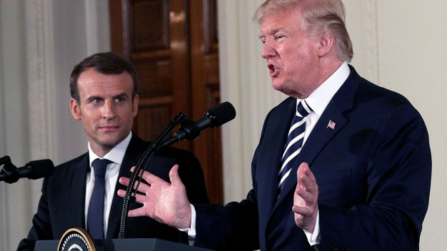 Trump Backtracks on Syria After Talks With French Leader