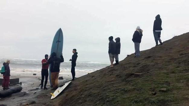 Big Waves Draw Surfers to Mavericks Beach in Half Moon Bay