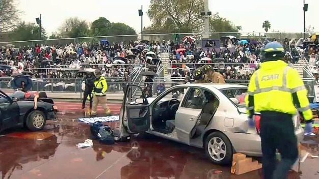 Every 15 Minutes: CHP Holds Mock DUI Crash at School