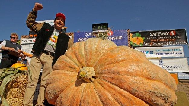 Napa Man Wins Weigh-Off With 2,175-Pound Pumpkin