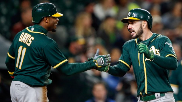 Joyce, Canha Homer in Ninth to Rescue A's in Seattle