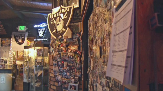 Raiders Fans at Ricky's Sports Bar Join in Sorrow, Anger