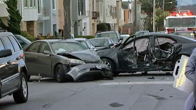 5 Injured After Stolen Car Crashes Into Multiple Vehicles
