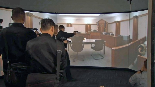 SFPD Demonstrates New Simulator For Deadly Force Training