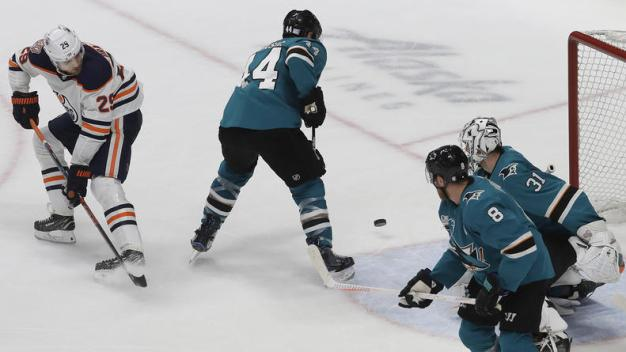 Sharks Fall to Pesky Oilers 4-3 in Overtime