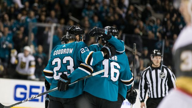 Sharks Beat Golden Knights in OT, Make Up Ground in Division