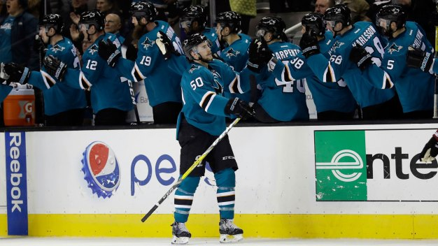 Sharks Hang on to Beat Blues and Open Road Trip With Win