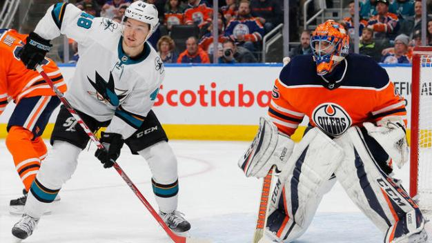 Hertl Hammers One in For Thrilling Sharks OT Win Over Oilers