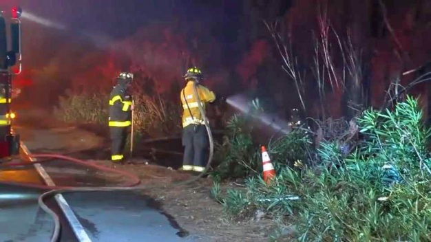 Several Fires Ignite Along Interstate 680 in San Jose