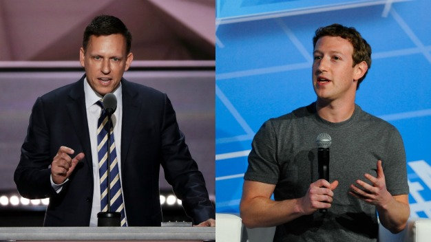 Zuckerberg Upholds Thiel's $1.25 Million Trump Donation