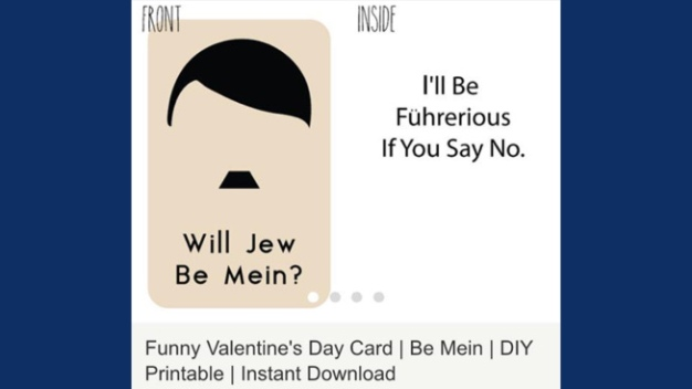 Etsy Dealer Sells Hitler Valentine's Day Card