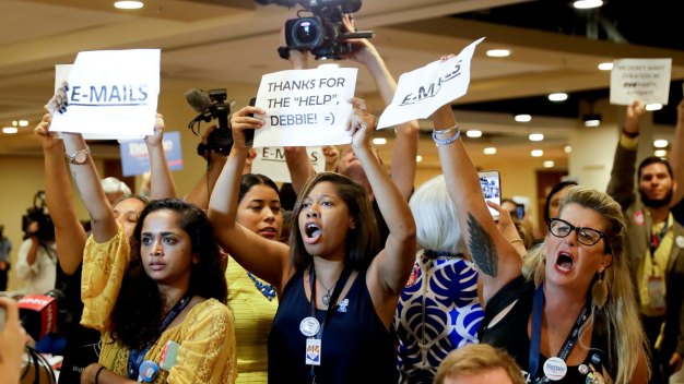 Party Disunity on Display as Dem Convention Opens