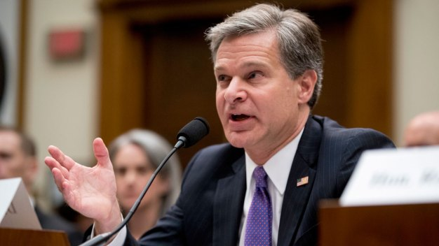 Russia Continues to Sow Discord in US: Wray