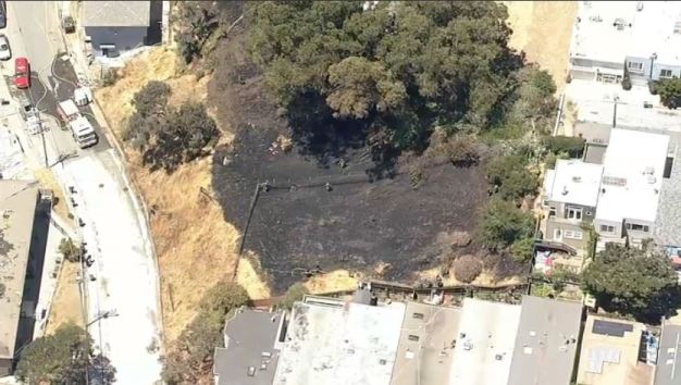2-Alarm Grass Fire Burning in Bernal Heights Neighborhood