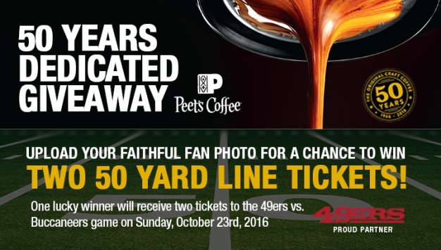 MOBILE ONLY - Enter for a chance to win Tickets to a 49ers Home Game