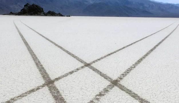 Tire Tracks Scar Death Valley National Park
