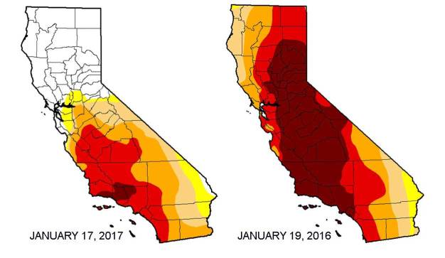 Worst of Drought Diminishes to 2 Percent in California
