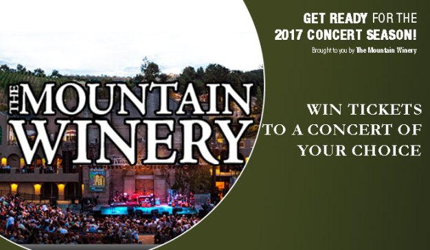Mountain Winery Summer Concert Series Sweepstakes