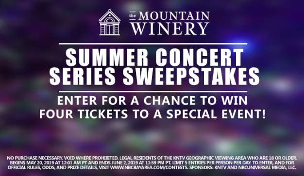 Mountain Winery Summer Concert Sweepstakes