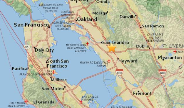 Magnitude 3.0 Earthquake Strikes in Castro Valley: USGS