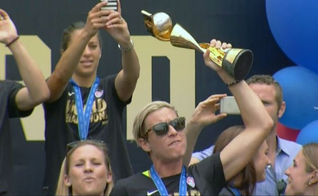 World Cup Champs Kick Off Welcome Home Party