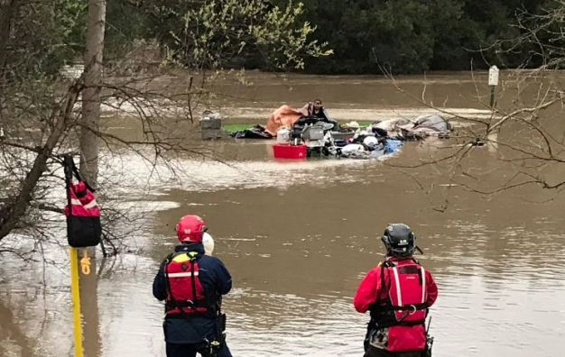 Five Rescued from Flooded San Jose Golf Course