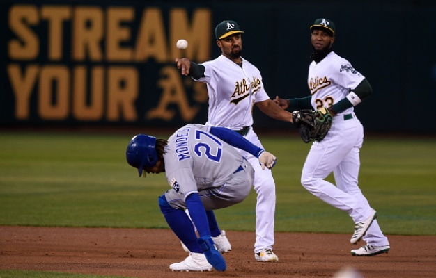 A's Bounce Back to Edge Royals