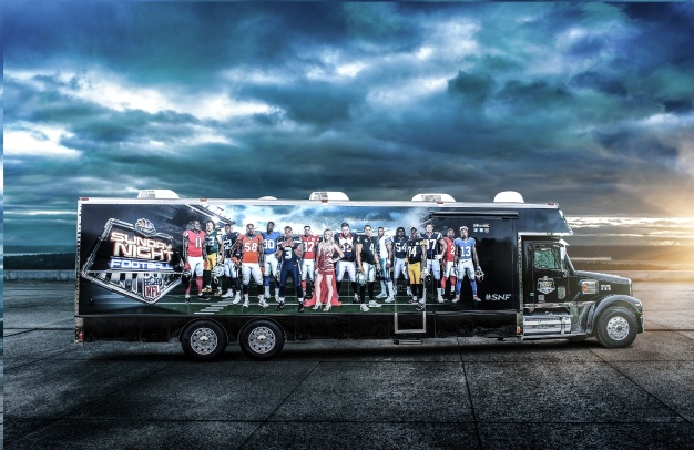 Sunday Night Football Bus Visits Walnut Creek On Ice and Raiderville