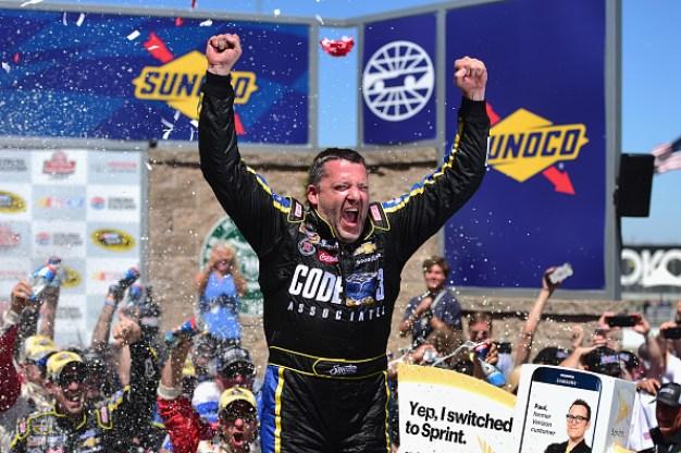 Tony Stewart Wins NASCAR Race at Sonoma Raceway