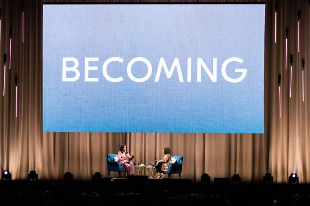 Michelle Obama Stops in San Jose for 'Becoming' Tour