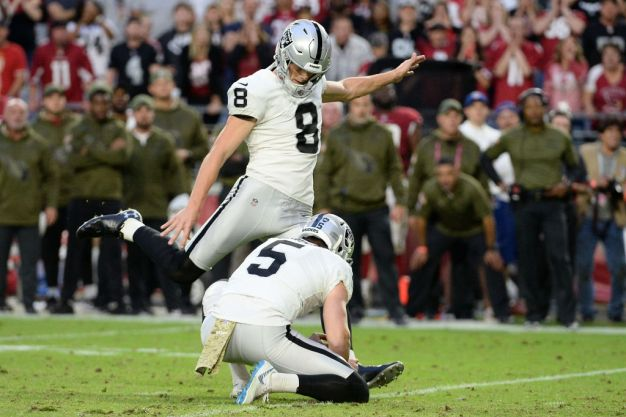 Kicker Carlson Making Most of Raiders Opportunity