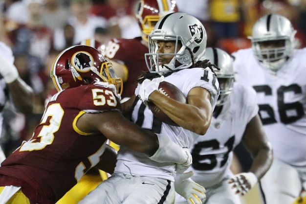 Raiders Suffer First Loss of Season as Redskins Dominate