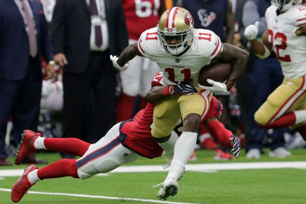 Goodwin Quickly Has Become a Familiar Target for Garoppolo