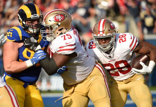 Niners' Offensive Line got 'Beat Up' vs. NFC West in 2017