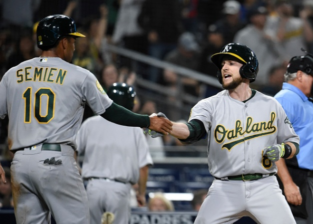 Piscotty's HR Ties It, Lowrie's Wins It For A's Over Padres