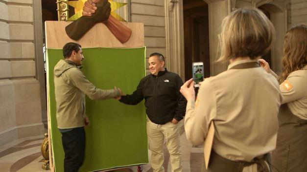 San Francisco Artists Get a Grip on City Hall Handshakes