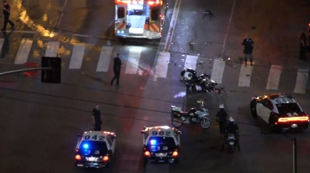 LAPD Motorcycle Officer Injured by Hit-And-Run Driver