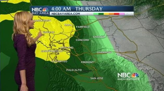 [BAY] Turning Cloudy Wednesday; Rain For Thursday Commute