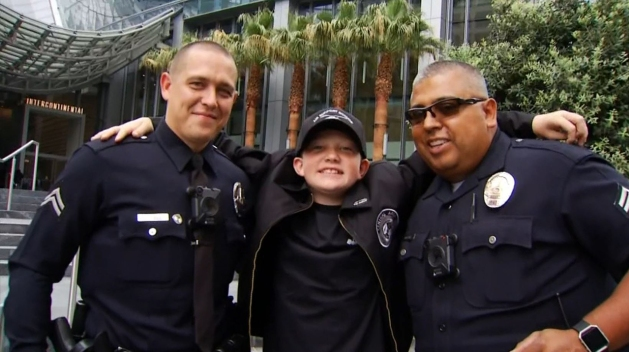 LAPD Arranges Memorable Day for Young Boy Who Was Attacked