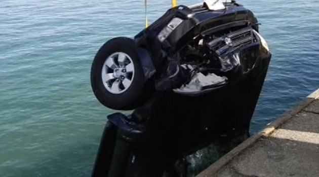 Car Plunges off Santa Cruz Wharf