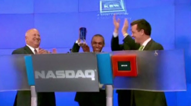 Teen Battling Cancer Rings NASDAQ Bell