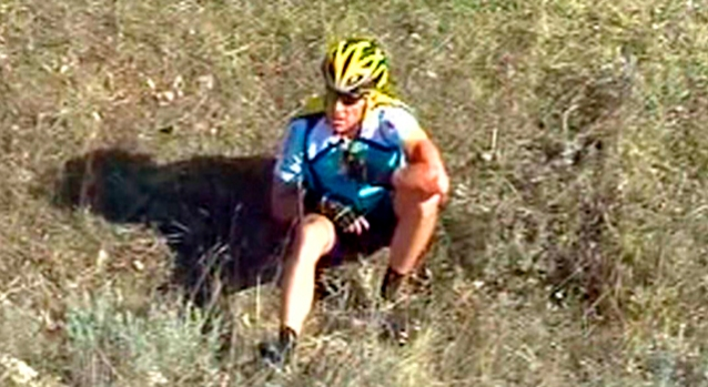 Lance Armstrong Crash