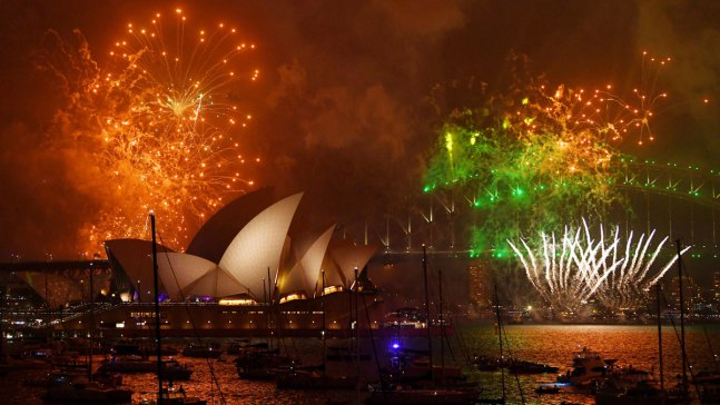 'Happy New Year': 2018 Celebrations in Photos